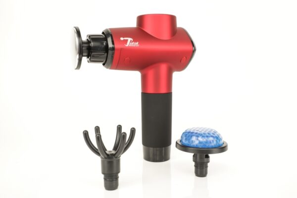 Red Total Massage Gun 2.0 With Heat and Cold Attachment